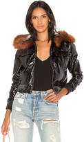 Capulet Flight Patent Leather Jacket in Black. - size M (also in S,XS)