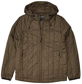 Filson Ultralight Hooded Jacket (Olive/Gray) Women's Coat