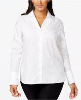 Calvin Klein Plus Size No-Iron Button-Down Shirt