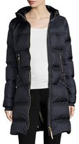 Bogner Lightweight Hooded Puffer Coat, Navy