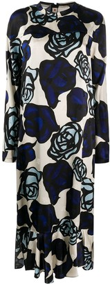 Marni Rose-Print Long Dress