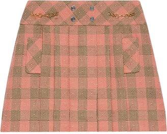 Gucci Optical check-pattern mini skirt