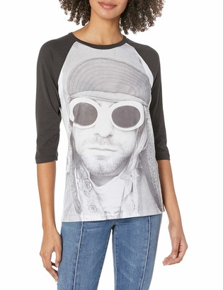 FEA Women's Cobain Kurt in Sun Glasses Juniors Raglan Top