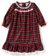 Little Me Baby Girls 12-24 Months Christmas Plaid Pajama Gown
