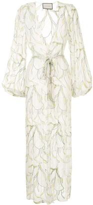Alexis Leaf Print Beach Dress