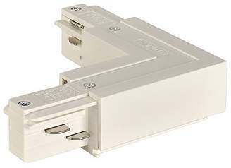 Eutrac L-Connector Grounding Inboard, White