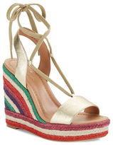 Kate Spade Daisy Too Leather Espadrille Wedge Sandals