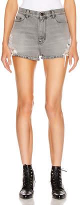 Saint Laurent Baggy Short in Sandy Grey | FWRD