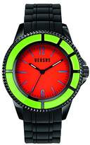 Versace Versus Women's Quartz Watch with Orange Dial Analogue Display and Black Pu Strap SGM11 0014