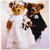 3dRose cst_793_3 Bride and Groom Bears Ceramic Tile Coasters, Set of 4