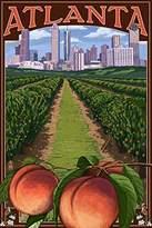 Atlanta, Georgia - Peaches (9x12 Art Print, Wall Decor Travel Poster)