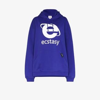 Vetements Ecstasy print cotton hoodie