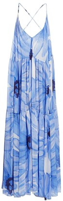 Jacquemus Mistral Plunging Floral Maxi Dress