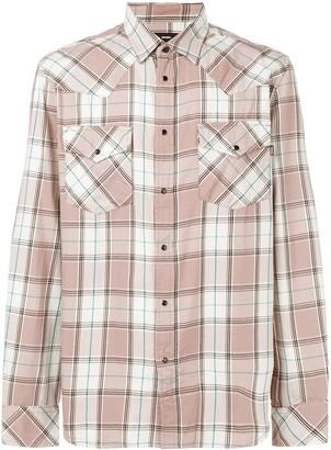 Diesel plaid long-sleeve shirt