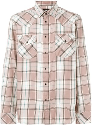 Diesel Plaid Long-Sleeve Shirt