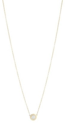 Phillips House 14K Yellow Gold & Diamond Micro Infinity Plate Necklace