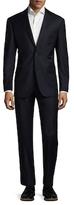 Zanetti Napolik Wool Solid Notch Lapel Suit