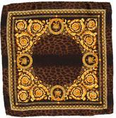 Versace Ornate Print Silk Handkerchief w/ Tags