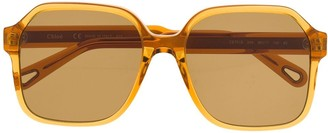 Chloé Eyewear Oversized Square Frame Sunglasses
