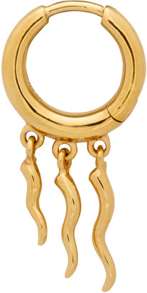 Maria Black Gold Gaia Huggie Single Earring