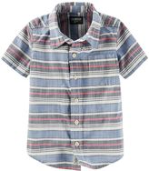 Osh Kosh Boys 4-7x Button-Front Short-Sleeve Shirt