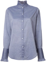 Nili Lotan pleated collar shirt - women - Cotton - XS