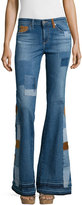 AG Jeans Angel High-Waist Flare Jeans, 11 Years Patchwork