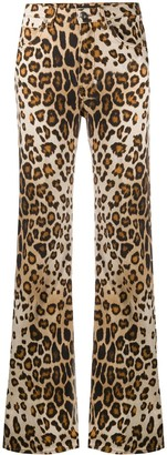 Etro Leopard Print Flared Jeans
