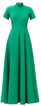 Emilia Wickstead Malinda High-neck Cloque Gown - Green