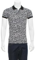 Saint Laurent Baby Cat Print Polo Shirt