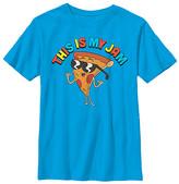 Fifth Sun Boys' Tee Shirts TURQ - Uncle Grandpa Turquoise Pizza Steve 'My Jam' Tee - Boys