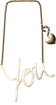 Lanvin Brass You Necklace