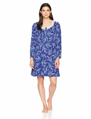 Aria Women's Long Sleeve Short Nightgown