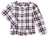Lucky Brand Toddler Girls) Ruffled Flannel Top
