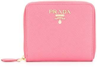 Prada saffiano leather small wallet
