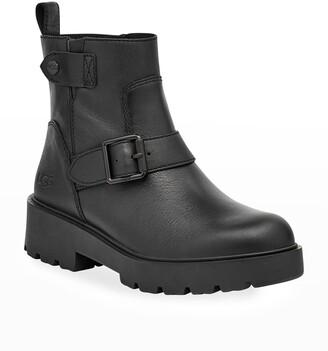 UGG Saoirse Waterproof Leather Biker Boots