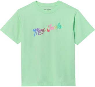 Marc Jacobs rainbow disco logo T-shirt