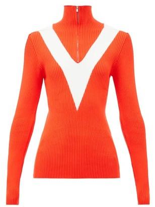 Fusalp Victoire Half-zip Rib-knit Sweater - Red
