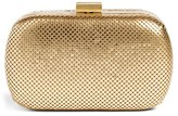 Whiting & Davis Mesh Oval Minaudiere - Metallic