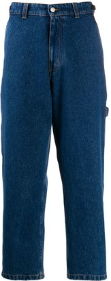 Ami Straight-Leg Buckle-Side Jeans