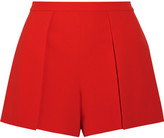 Alice + Olivia Alice Olivia - Larissa Draped Crepe Shorts - Red