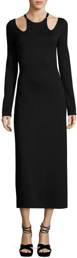 A.L.C. Jessa Long-Sleeve Cutout Ponte Midi Dress