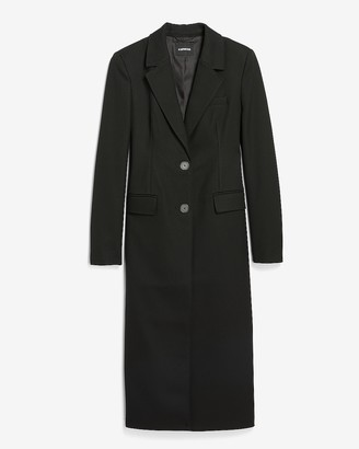 Express Notch Lapel Button Front Coat