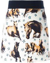 Fausto Puglisi horse print mini skirt - women - Silk/Acetate/Viscose - 40