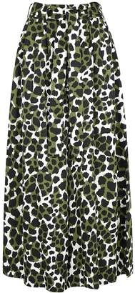 By Malene Birger Dinizia Printed Wide-leg Satin Trousers