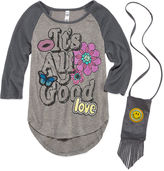 Beautees 3/4 Sleeve Layered Top - Big Kid Girls