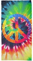 Old Glory Peace Sign Tie Dye All Over Beach Towel