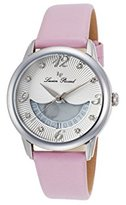 Lucien Piccard Women's 'Bellaluna' Swiss Quartz Stainless Steel and Leather Casual Watch, Color:Pink (Model: LP-40034-02-PKSS)