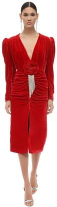 Marianna Senchina Embellished Viscose & Silk Midi Dress