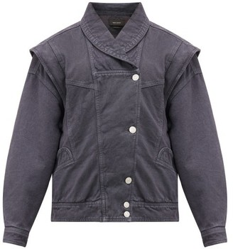Isabel Marant Eriala Detachable-sleeve Denim Jacket - Black